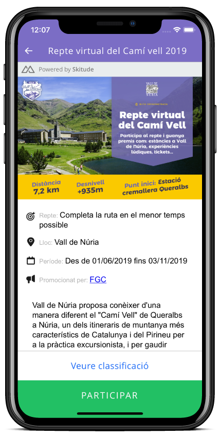 Visor mobile Cursa Virtual 3.0;